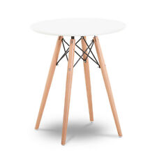 Dining Table MDF Eiffel Style Round Kitchen Living Room White Furniture Retro