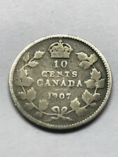 1907 Canada 10 Cent Silver VG #10003