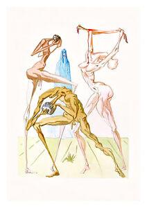Divine Comedy Inferno 26 by Salvador Dali A4 Art Print