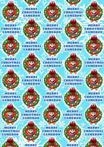 SUPER MARIO Personalised Christmas Gift Wrap - Super Mario Wrapping Paper