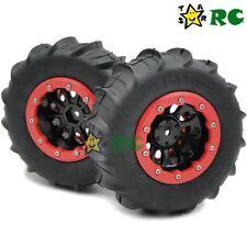 2pcs 1/10 Crawler 2.2 Beadlock Rims & RC 4WD 2.2 Sand Storm Paddle Tires 114mm