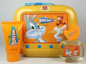 CS LOONEY TUNES BUGS BUNNY FIRST AMERICAN BRANDS SET IN ORANGE TIN LUNCH BOX