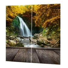 2 Panels Natural Mountain Thermal Bedroom Curtains 3D Print Door Drapes