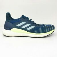 Adidas Mens Solar Glide D97436 Blue Running Shoes Lace Up Low Top Size 9