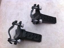 BLACK BICYCLE STEEL FOLDABLE FOOT STEP PEGS STAND CRUISER LOWRIDER BMX BIKES