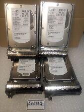 """- LOT OF 4  Seagate  3.5"""" 73GB 15K RPM SAS HDD  ST373455SS 0XT763 W/Caddy 0F9541"""