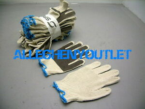 Smitty® Nitrile Palm Coated Gloves, White/Brown, STRETCHABLE, ONE SIZE 12 Pairs