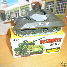 Solido Destroyer M 10 tank  W box made in 1972 lovely and rare military model