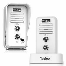 Wuloo Wireless Doorbell Intercom System Door Climes Rechargeable Voice Doorbells