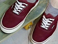 Preloved Secondhand Vans Authentic Burgundy Skate Shoes Mens US 11
