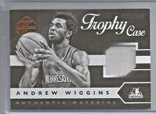 2015-16 Panini Limited Basketball Andrew Wiggins Trophy Case Jersey Card # /149