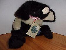 New Boyds Collection Ltd. Stuffed Animal Black White Tan Maggie O' Pig