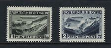 1931 Liechtenstein Scott C7-C8 Zeppelin airmail set MH--gorgeous fresh set