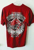 STREET VIBRATIONS Reno Nevada 2011 T-shirt- Mens Sz M Burgundy- Motorcycles Bike