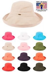 Angela & William Packable 100% Cotton Cloche Beach Women's Sun Hat SPF50 CL1801