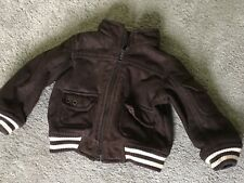 Boys Brown Suede Effect Jacket / Coat Age 9-12 Months