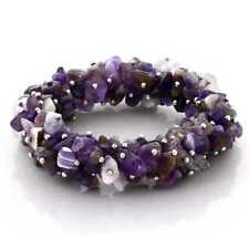 Fashion Chinese Natural Jade Stone Purple Bracelet Bangle Gift 2.40-2.48 inch Jewelry & Watches Fine Gemstone Bracelets