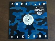 "Question de ne pas U Want Some More? UK 12"" 1993 EX + Vinyle guerilla porc épic 48"
