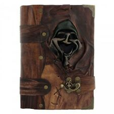 Handmade Real Leather Journal Diary Notebook Brown Bound Smiling Old Man Large