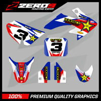 HONDA CRF 50 MOTOCROSS GRAPHICS MX GRAPHICS KIT DECAL KIT ROCKSTAR WHITE RED BLU