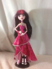 Cool MONSTER HIGH Doll in Pink Formal Dress Black & Pink Hair Black Shoes