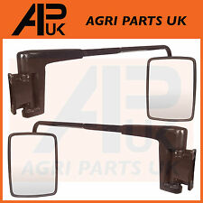Cab Mirror Head & Arm Pair Massey Ferguson Ford New Holland John Deere Tractor