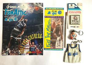 Vintage NBA Basketball Orlando Magic Keyring Vest Shaquille O'Neal Player Button