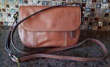 Fossil brown leather crossbody handbag, new w/o tags