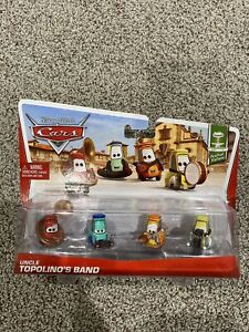 Disney Cars Series 3 Uncle Topolino's Band 4-Pack 1:55 Diecast Car Set