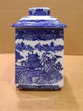 Blue Willow Large Tea Canister Ringtons Limited Tea Merchants