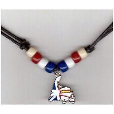 Newfoundland & Labrador Canada Provincial Shape Flag Small Metal Necklace Choker