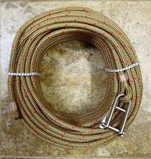 "3/8"" x 125 ft. Dacron/Spectra Halyard,Spliced in 5/16"" Hdbrd Shackle Brassy Gold"