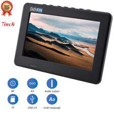 """Mini Portable 7"""" Inch LED DVB-T/T2 TV Player Support AV/USB/TF Digital TV UK"""