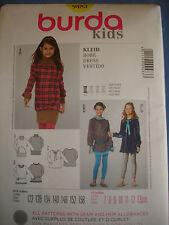 Burda niños 9483 Tamaños Vestido de patrón de costura europea de 122 - 158