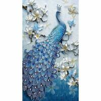5D DIY Special-shaped Drill Diamond Painting Peacock Cross Stitch Craft Kit AU