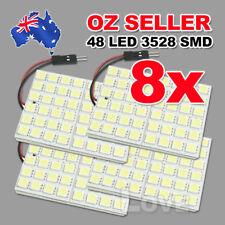 8x 48 LED 3528 SMD 12V Car Interior Lights Panel Bulb Lamp T10 BA9S Dome Festoon