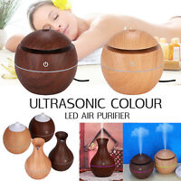 Wood Grain LED Colorful Ultrasonic Aroma Essential Oil Diffuser Air Humidifier