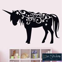Wall Stickers Unicorn Horse Girls Bedroom Princess Kids Art Decals Vinyl Home