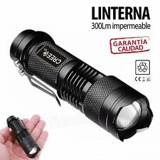 Mini linterna led CREE Q5 7W 300LM Flash LED con zoom impermeable caza pesca