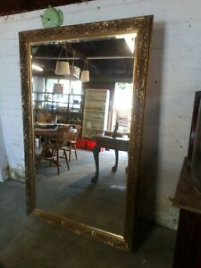 Vintage Extra Large Heavy Ornate Carved Wall Mirror 171cm x 110cm, Ref:W1545