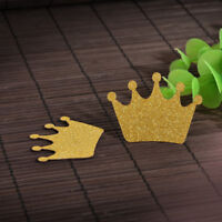 24PCS Gold Glitter Crown Cupcake Toppers Wedding Picks Party Decor BABY SHOWER