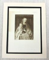 1927 Antico Stampa Madonna e Bambino Neonato Cristo Dutch Pittura Jan Van Eyck
