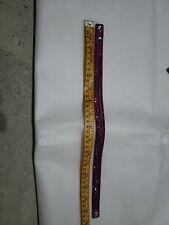 SWAROVSKI Crystal Suede Leather Adjustable WrapBracelet in Strawberry color