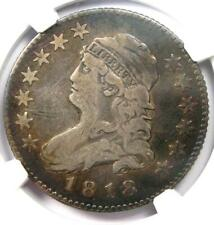 1818 Capped Bust Quarter 25C - NGC Fine Details - Rare Coin - Scarce Date!