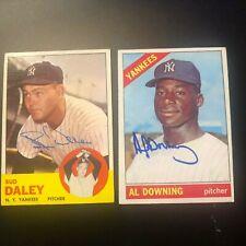 Al Downing New York NY Yankees signed autographed baseball card AUTO