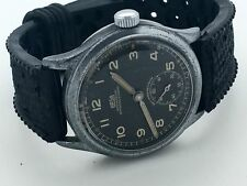 Rare 1940s WW2 GERMAN NAZI ARMY MILITARY ARSA DH FIELD WATCH BLACK ORIGINAL DIAL