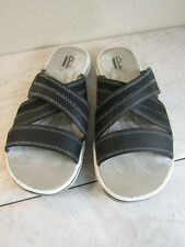 Clarks Collection Stitched Man Made Slides Sandals Women's Size 8 EU 39 M