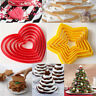 6Pcs Cookies Fondant Cake Cutter Pastry Star Heart Shape Baking Mold Tools Decor