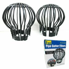 New Pipe Gutter Filters 2 pack No Tools Required Prevents leaves from Clog Drain