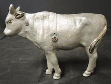 """Unusual Antique Aluminum Cow Figure * 4 1/4"""" Tall"""